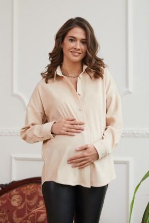 Рубашка для беременных и кормящих Lullababe Varna бежевая