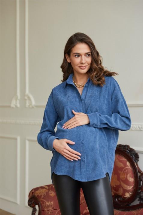 Рубашка для беременных и кормящих Lullababe Varna деним