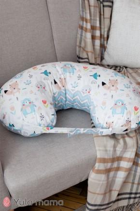Подушка для кормления Юла Mama лесные звери на белом NUR-1.2.4