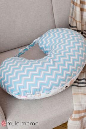 Подушка для годування Юла Мама корони на білому NUR-1.2.3