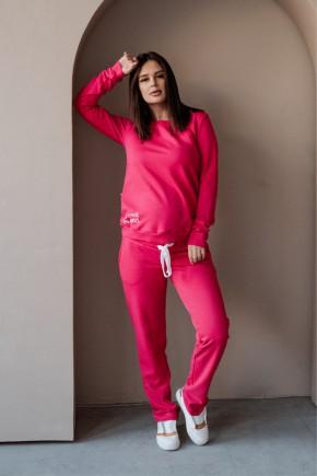 Спортивный костюм для беременных и кормящих To be 4205 малиновый