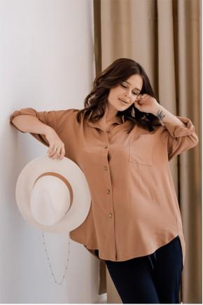 Блуза для беременных и кормящих To be 2101 светло-коричневая