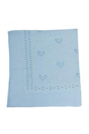 Покрывало Mari-Knit 90х90 Фламинго голубое