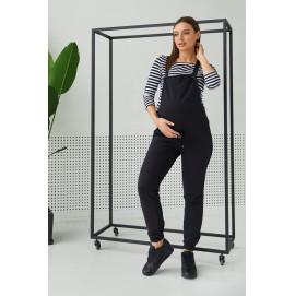 Трикотажный комбинезон для беременных Lullababe Wels черный
