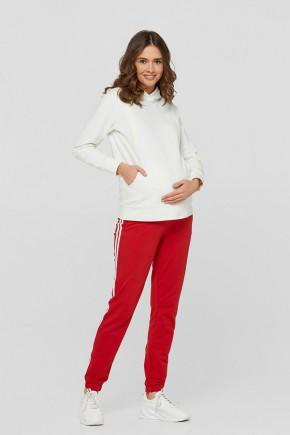 Спортивные штаны для беременных с лампасами Lullababe Lublin красные
