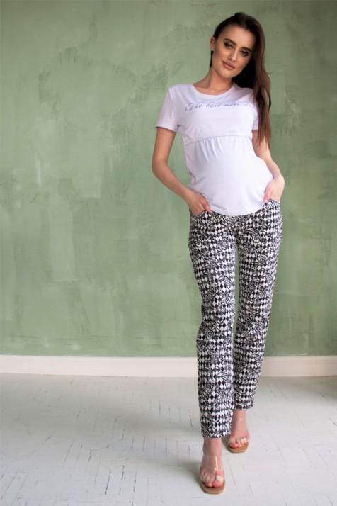 Футболка для беременных и кормящих Dianora 2059 белая