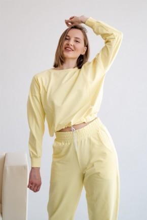 Спортивный костюм для беременных и кормящих To be 4301 лимонный
