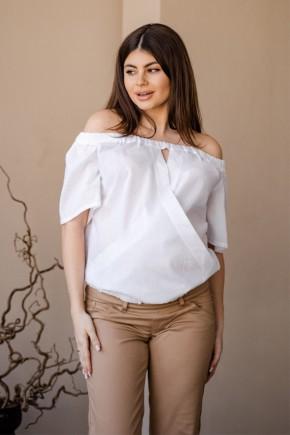 Блуза для беременных и кормящих To be 4184 белая