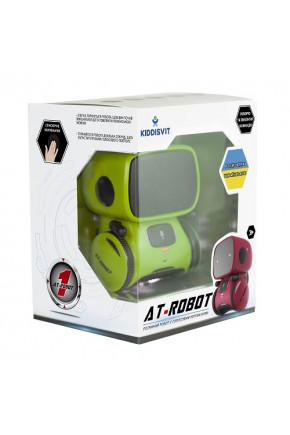 Интерактивный робот с голосовым управлением – AT-ROBOT (зелёный, озвуч.укр.)