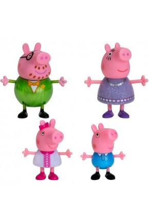 Набор фигурок Peppa - БОЛЬШАЯ СЕМЬЯ ПЕППЫ, ПРАЗДНИК (Мама, Папа, Пеппа и Джордж)