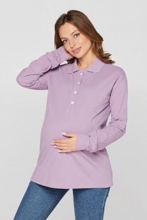 Кофта Polo для беременных и кормящих Lullababe Fivy сиреневая