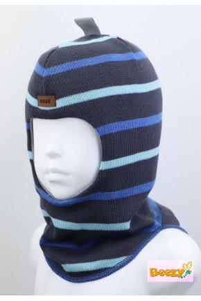 Шолом зимовий Beezy для хлопчика арт.1405, морська хвиля
