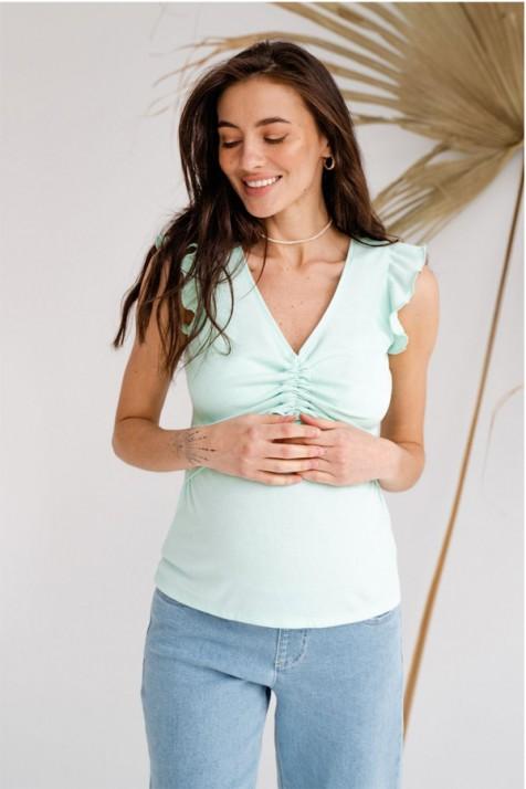 Майка для беременных и кормящих To be 4309 мятная
