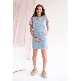 Сарафан для беременных и кормящих To be 4303 небесно-голубой