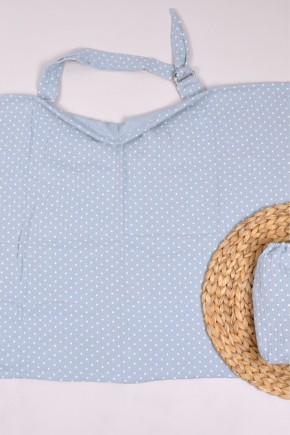 Муслиновая накидка для кормления с сумочкой Magbaby голубая