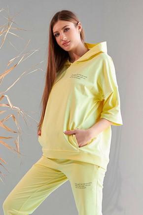 Утепленный худи для беременных и кормящих Dianora 2105 серый