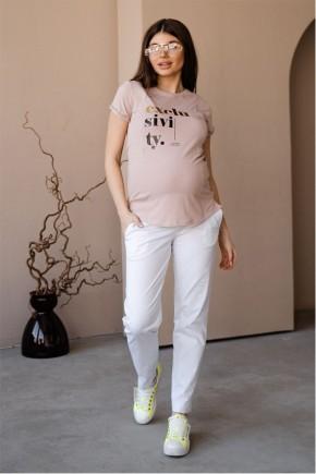Брюки для беременных To Be 1153 белые