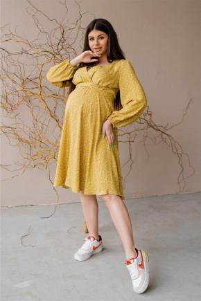 Платье для беременных и кормящих To be 4316 желтое
