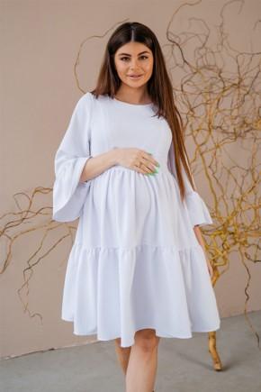 Платье для беременных и кормящих To be 1459 белое