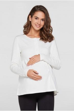 Кофта Polo для вагітних і годуючих Lullababe Fivy бузкова