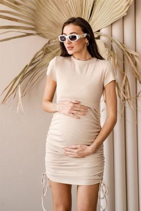 Платье для беременных и кормящих To be 4315 бежевое