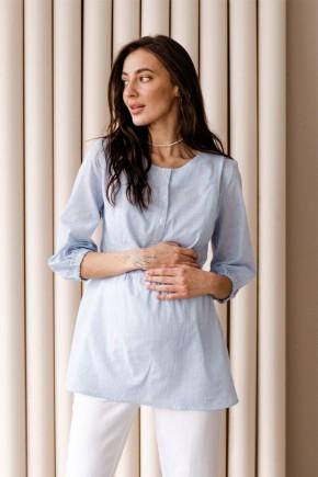 Блуза для беременных To be 4317 голубая