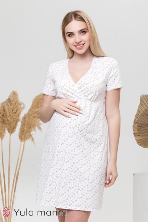 Ночная рубашка для беременных и кормящих Юла Мама ALISA LIGHT NW-1.4.7