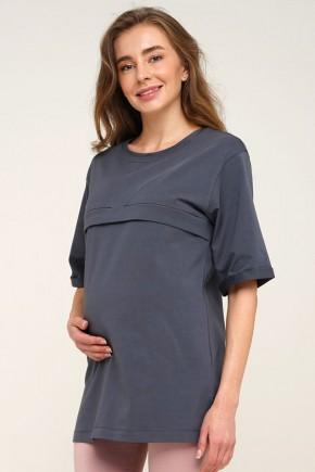 Футболка для беременных и кормящих Creative Mama Oversize Grey