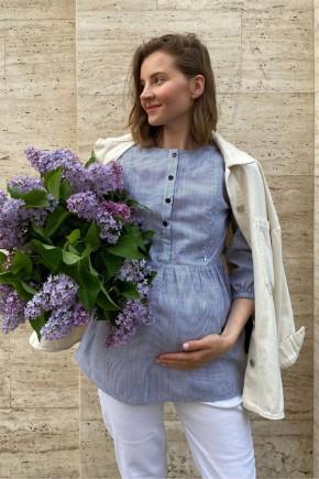 Блуза для беременных и кормящих To be 4317 серая