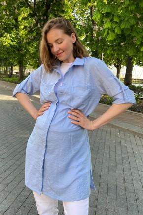 Блуза для беременных и кормящих To be 1268 голубая