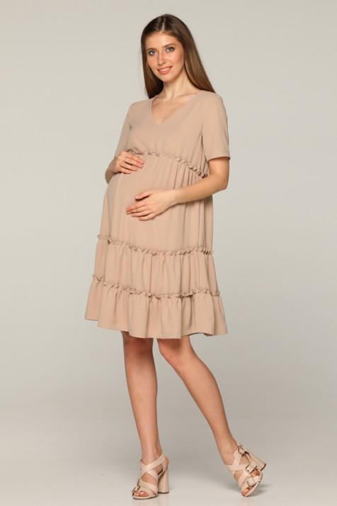Летнее платье для беременных Lullababe Madagascar бежевое