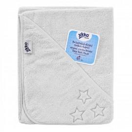Детское Махровое полотенцек капюшоном XKKO 90x95 Organic  - белое