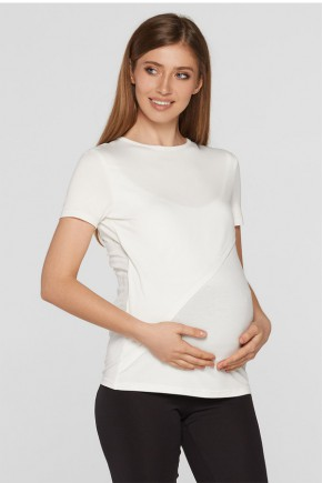 Футболка для беременных Lullababe VALENCIA молочная