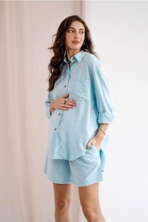 Костюм для беременных To be 4327 голубой