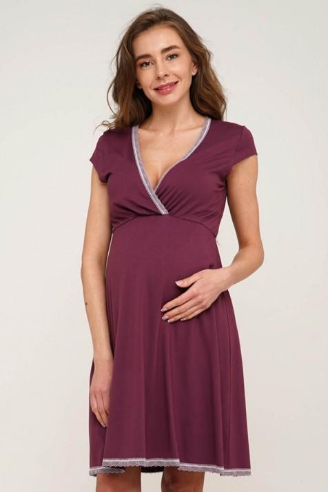 Ночнушка в роддом для беременных и кормящих Creative Mamа Careline (marsala)