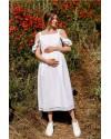 Платье для беременных и кормящих To be 2710 белое