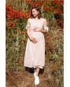 Платье для беременных и кормящих To be 2710 бежевое