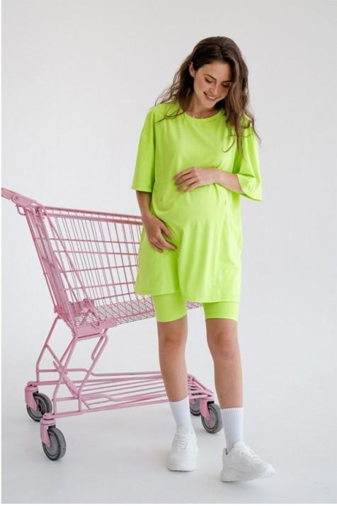 Футболка для беременных и кормящих To be 4332 салатовый неон