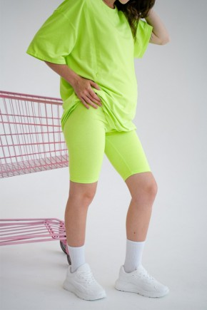 Велосипедки для беременных To be 4258 салатовый неон