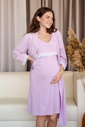 Халат для вагітних To be 3057 малиновий