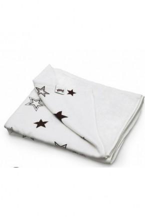 Плед детский двусторонний ХККО коричневые звезды 130*70