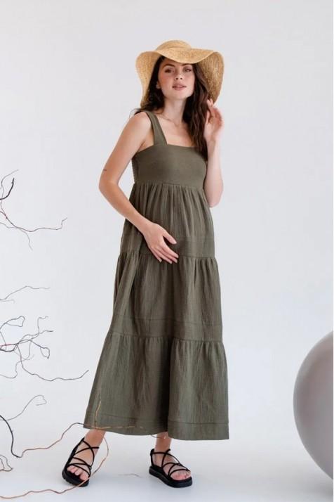 Платье для беременных To be 4323 хаки