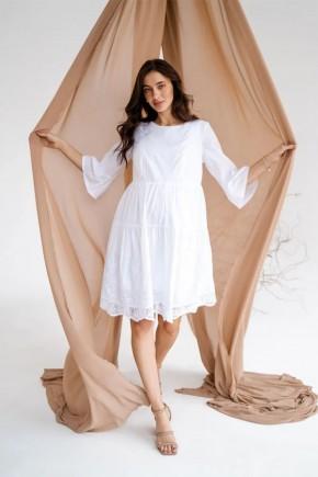Платье для беременных и кормящих To be 4250 белое