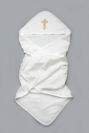 Крыжма для крещения ребенка Модный карапуз молочная