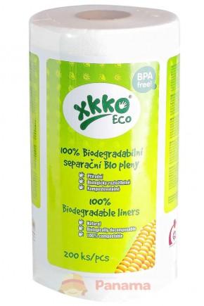 """Одноразовые вкладыши для многоразовых подгузников """"Eco"""" XKKO 200 шт"""