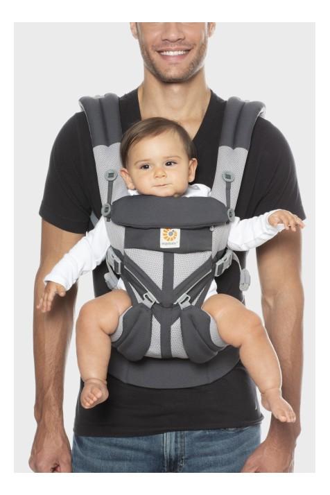 Эрго рюкзак Ergobaby Omni Mesh 360 - Карбон с рождения с вентилируемой спинкой