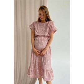 Платье для беременных и кормящих To be 4337 пудра