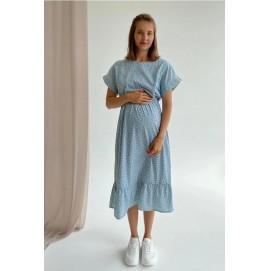 Платье для беременных и кормящих To be 4337 мятное