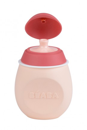 Силиконовый поильник Beaba BabySqueez 2 в 1 розовый