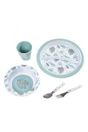 Набор посуды из меламина Beaba разные цвета